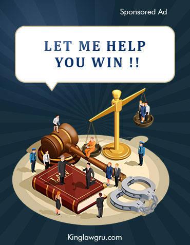 Sponsored Ad - kinglawgru.com - Let Me Help You Win!!