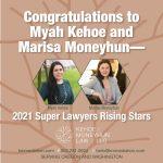 Myah Kehoe and Marisa Moneyhun are 2021 Oregon Rising Stars